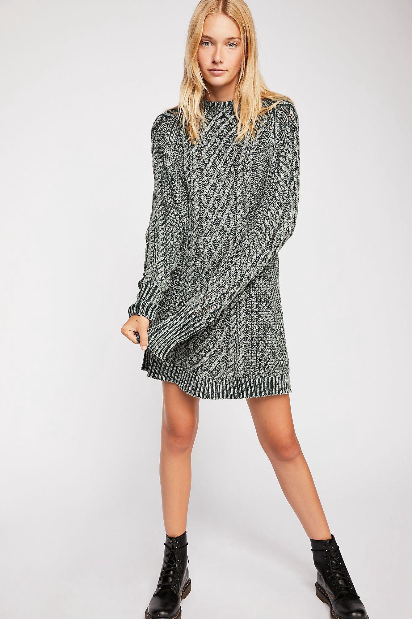 c727f63038655 Free People On A Boat Sweater Dress - Jewel Seas Xs