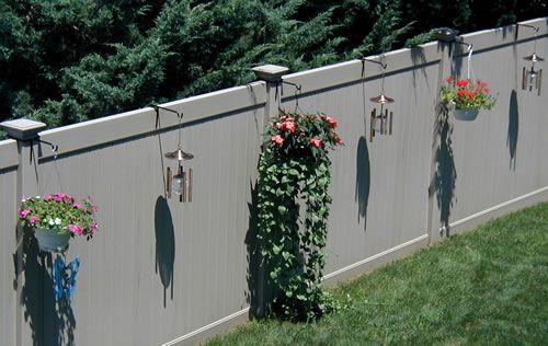 Pvc Fence Accessory Hanger Vinyl Fence Landscaping Vinyl Fence Vinyl Fence Decor