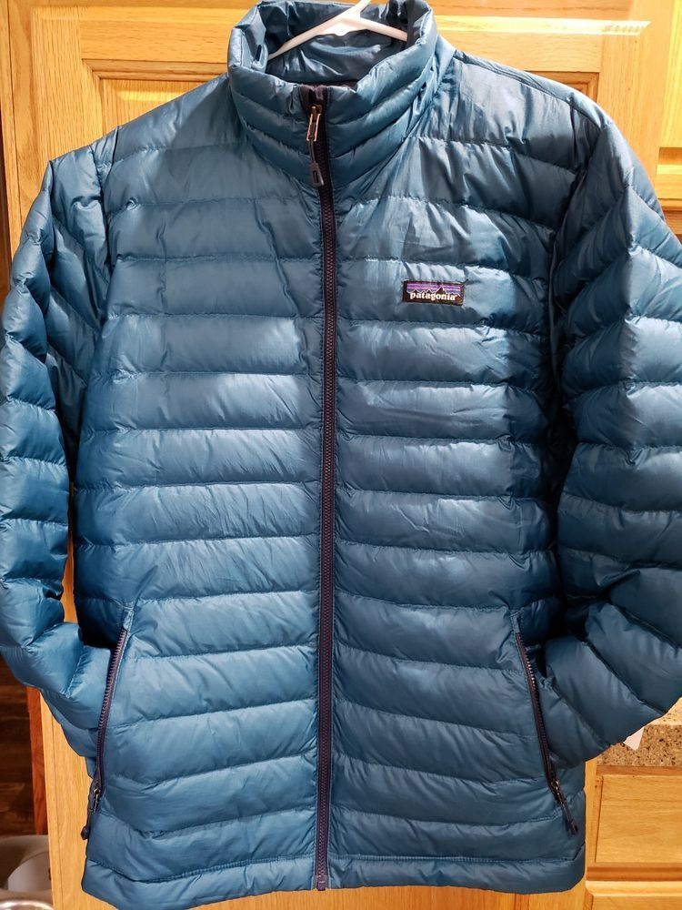 PATAGONIA Men's Down Puffer Blue Jacket Size Large