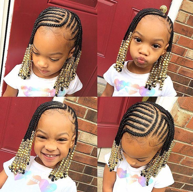 Kid Braid Styles Back To School Braided Hairstyles For Kids Black Beauty Bom Beauty Coiffures Pour Enfant Cheveux De Petites Filles Tresses Fillette