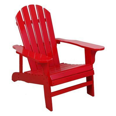 outdoor leigh country painted wood adirondack chair products red rh pinterest com