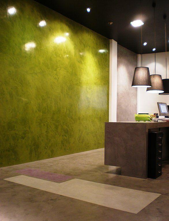 Microcemento Decoración de locales Comerciales Suelo y paredes de - paredes de cemento