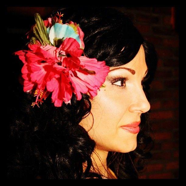 Monika from Echoes of Hawaii www.echoesofhawaii.com #hula #hawaiian #miami #dance #dancer #fire #polynesian #entertainment #hire #florida