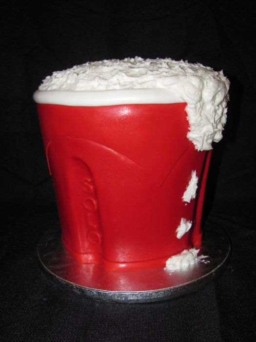 Red Solo Cup Groom's Cake