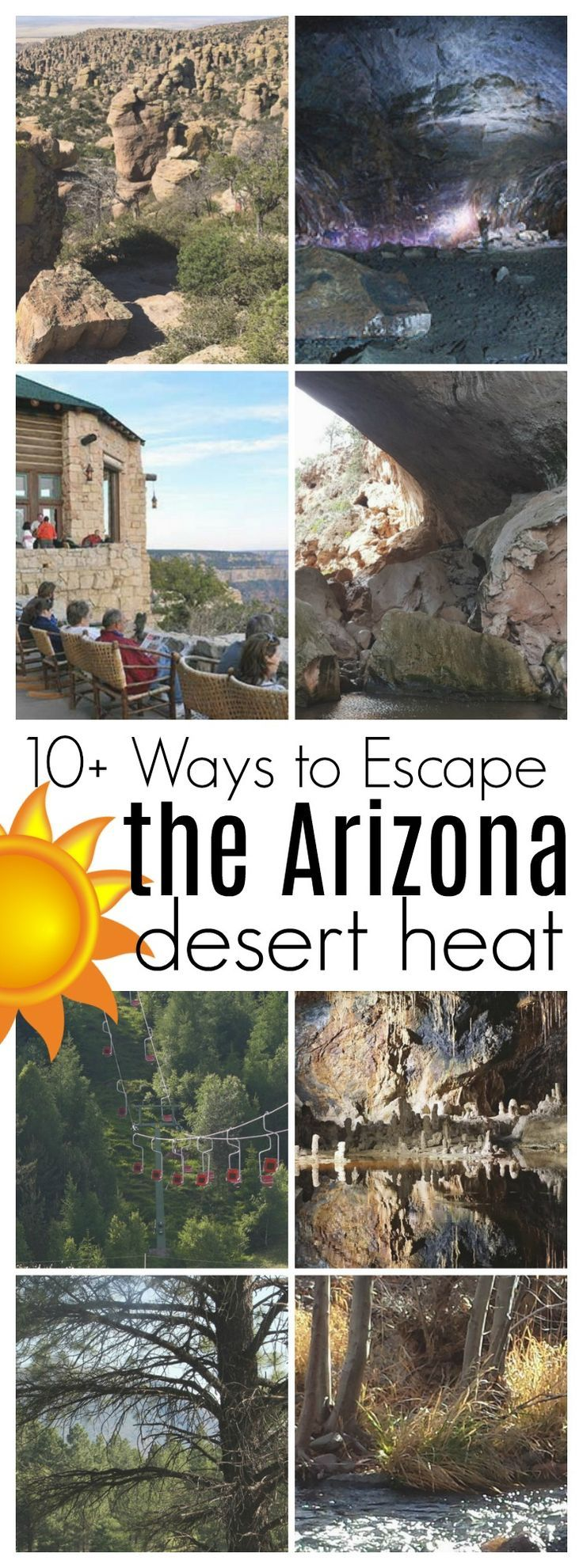Looking for a way to cool off during the hot, Arizona summer? Here are over 10 ways to escape the Arizona desert heat. #desertlife