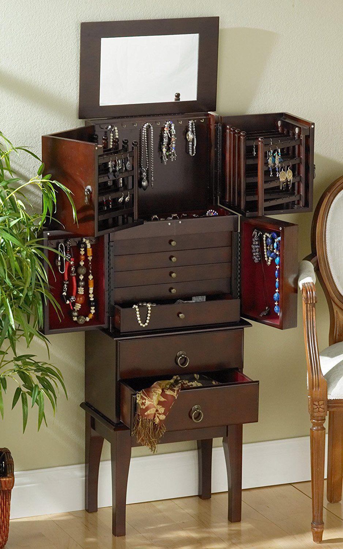25 Beautiful Antique Jewelry Armoires Zen Merchandiser Furniture Furnishings Armoire