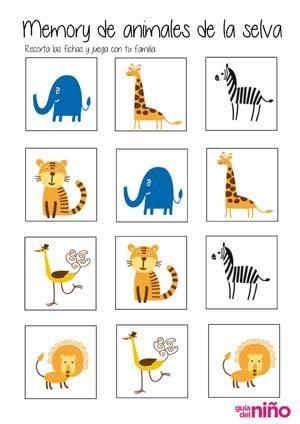 memory de animales | Kinder | Pinterest | Africa, English lessons ...