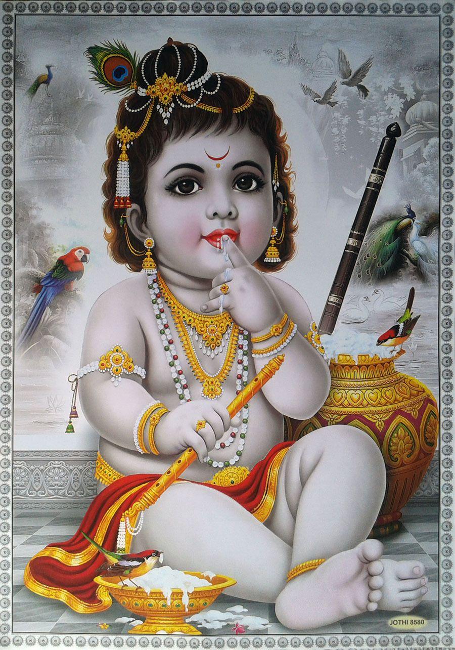 Baby-Krishna-Beautiful-POSTER | Lord Śrī Kṛṣṇa in 2019