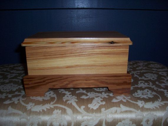 This box is left in its natural beauty with only one coat of sealing polyurethane on all sides. Perfect for that cabin look or a shell box at