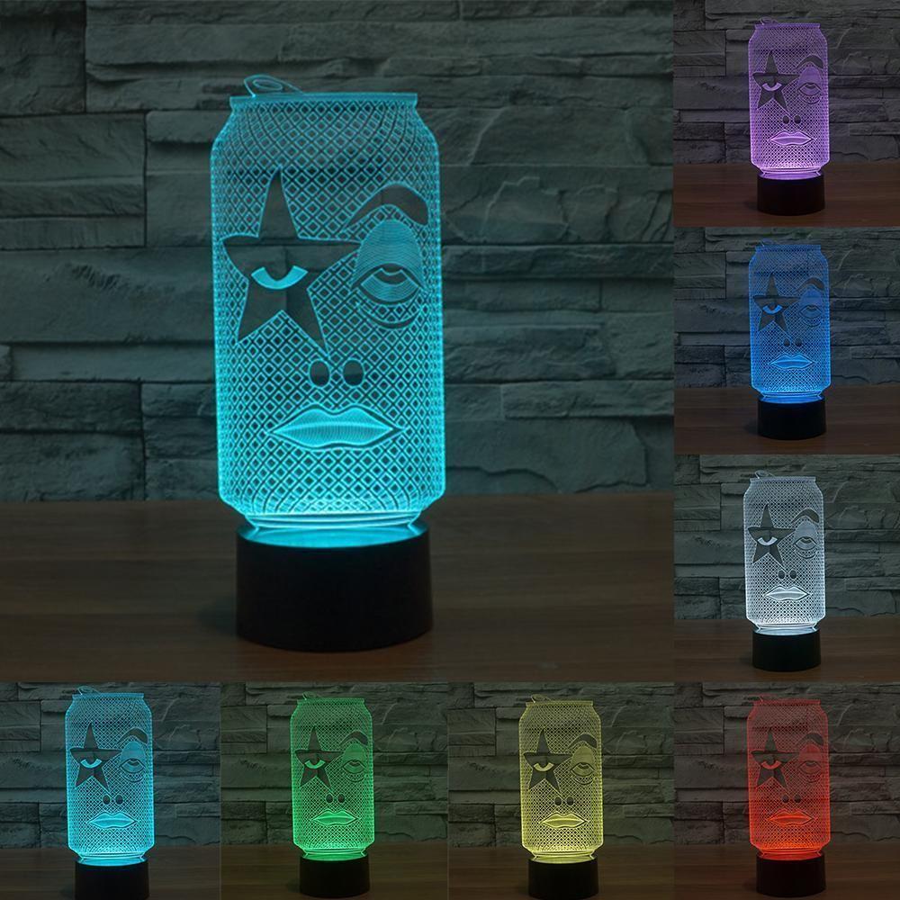 Can 3d Illusion Led Lamp Lamp Anime Merchandise 3d Lamp
