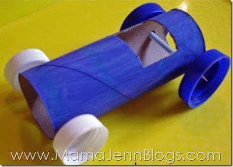 Rolling Race Cars: Toilet Paper Tube Tutorial