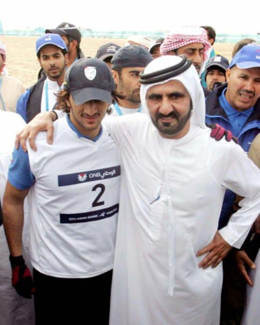 Rashid bin Mohammed bin Rashid Al Maktoum y su padre, Mohammed bin Rashid bin Saeed Al Maktoum, 14/12/2006