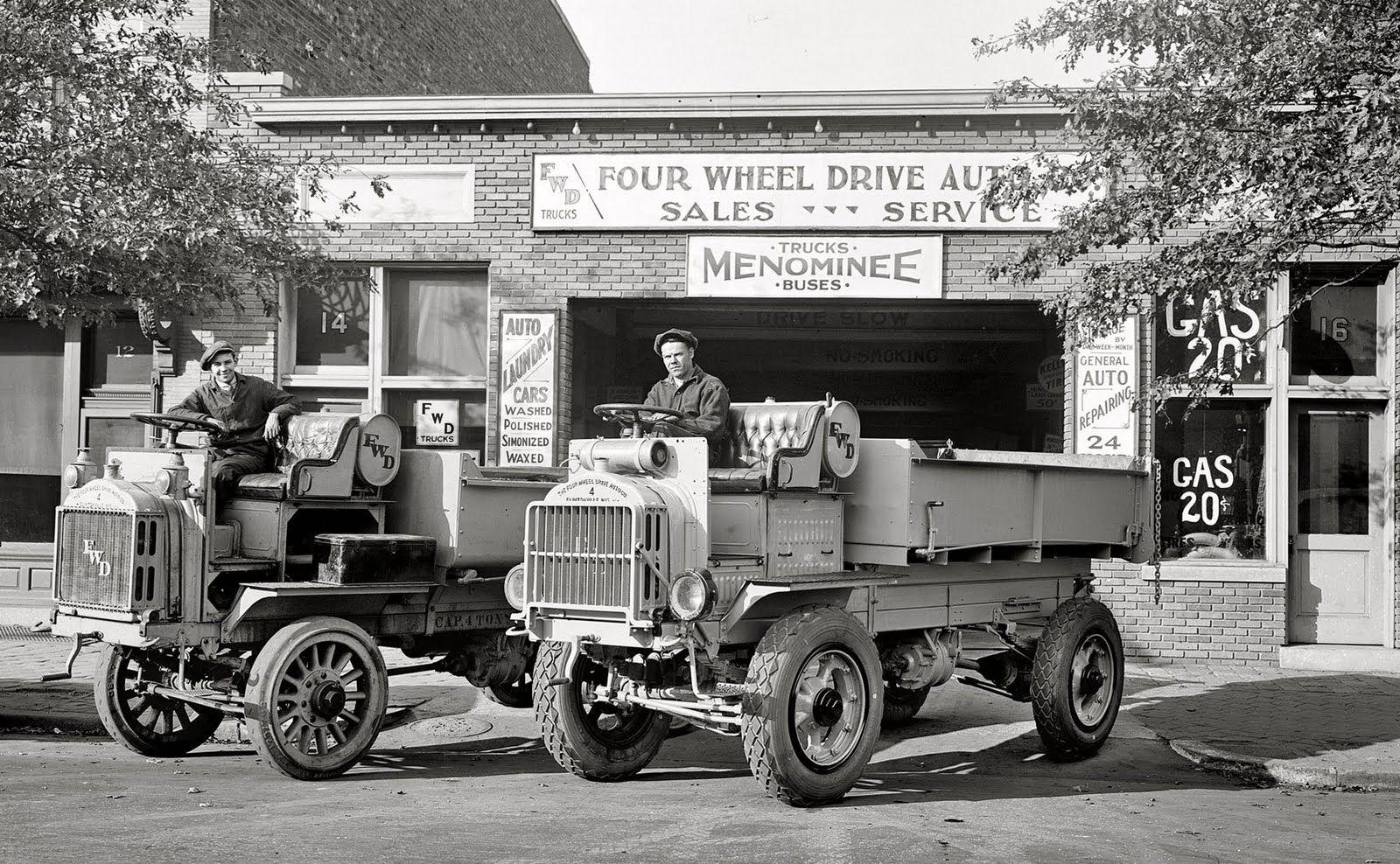 Four Wheel Drive Auto Company, 1927. | Trucks & Bus & Tankers ...