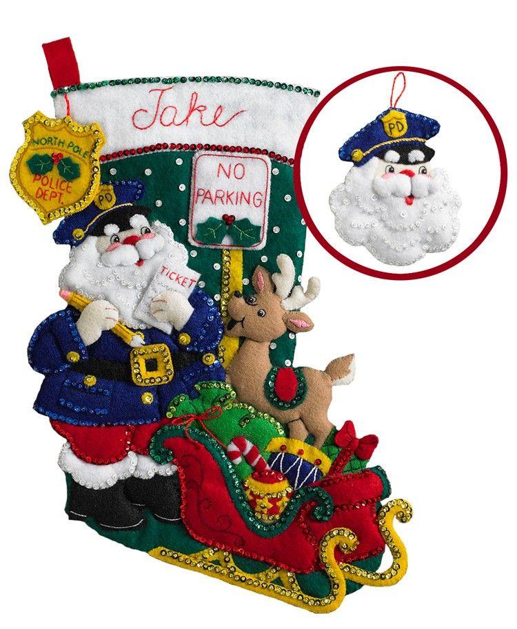 Officer Santa Bucilla Christmas Stocking Kit