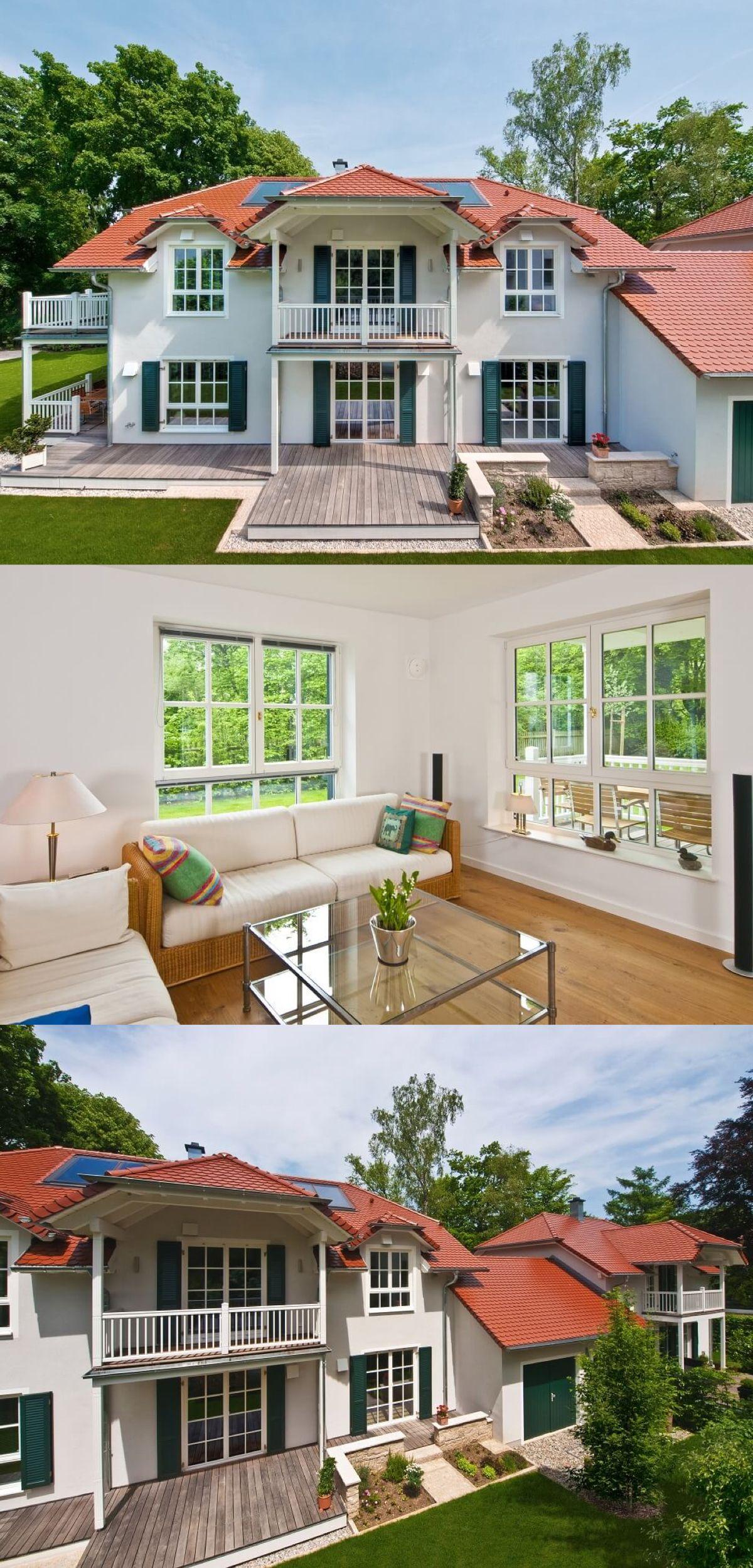 zweifamilienhaus im landhausstil haus steinhauser von baufritz fertighaus bauen landhaus. Black Bedroom Furniture Sets. Home Design Ideas