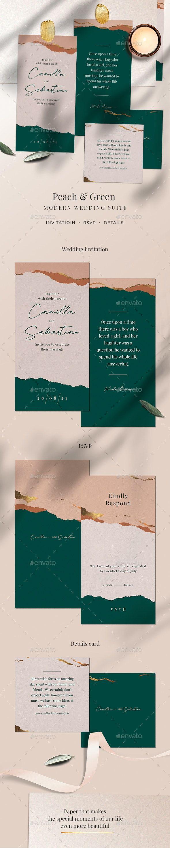 Green Wedding Invitation #AD #Green, #ad, #Wedding, #Invitation