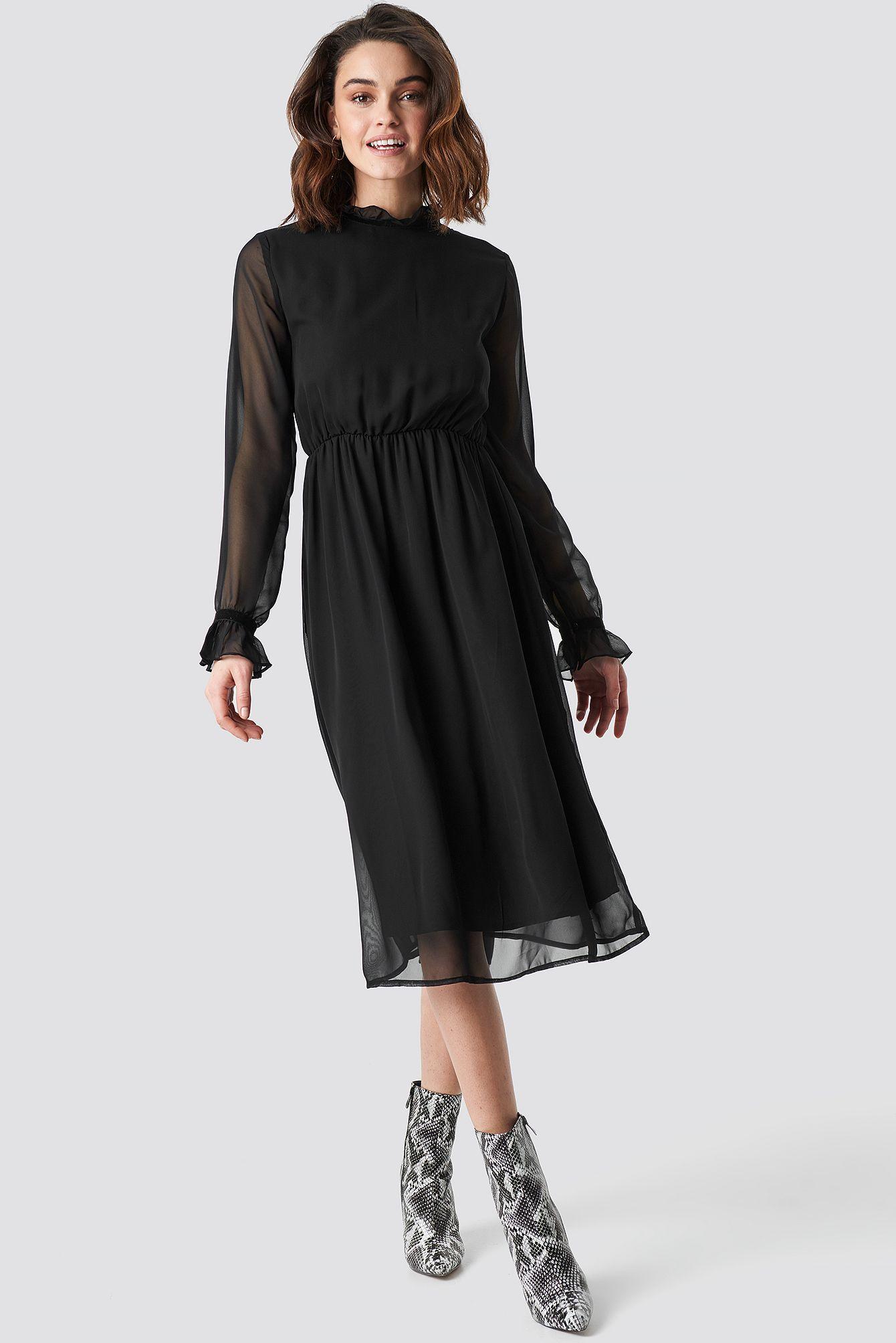Ruffle Hem Dobby Chiffon Mini Dress Boohoo Australia In 2020 Long Sleeve Cocktail Dress Boho Dress Short Mini Dress [ 1500 x 1000 Pixel ]