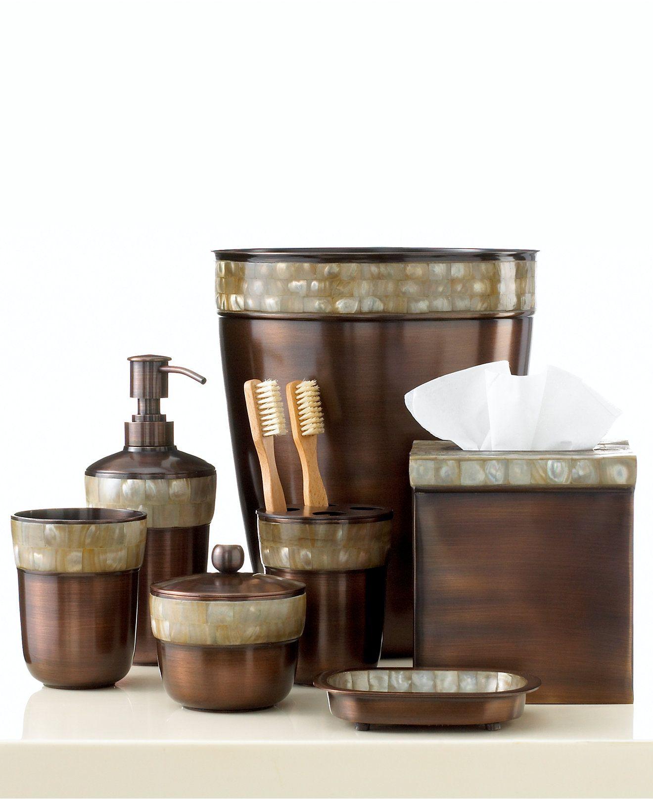 Paradigm Bath Accessories Opal Copper Trash Can Bathroom