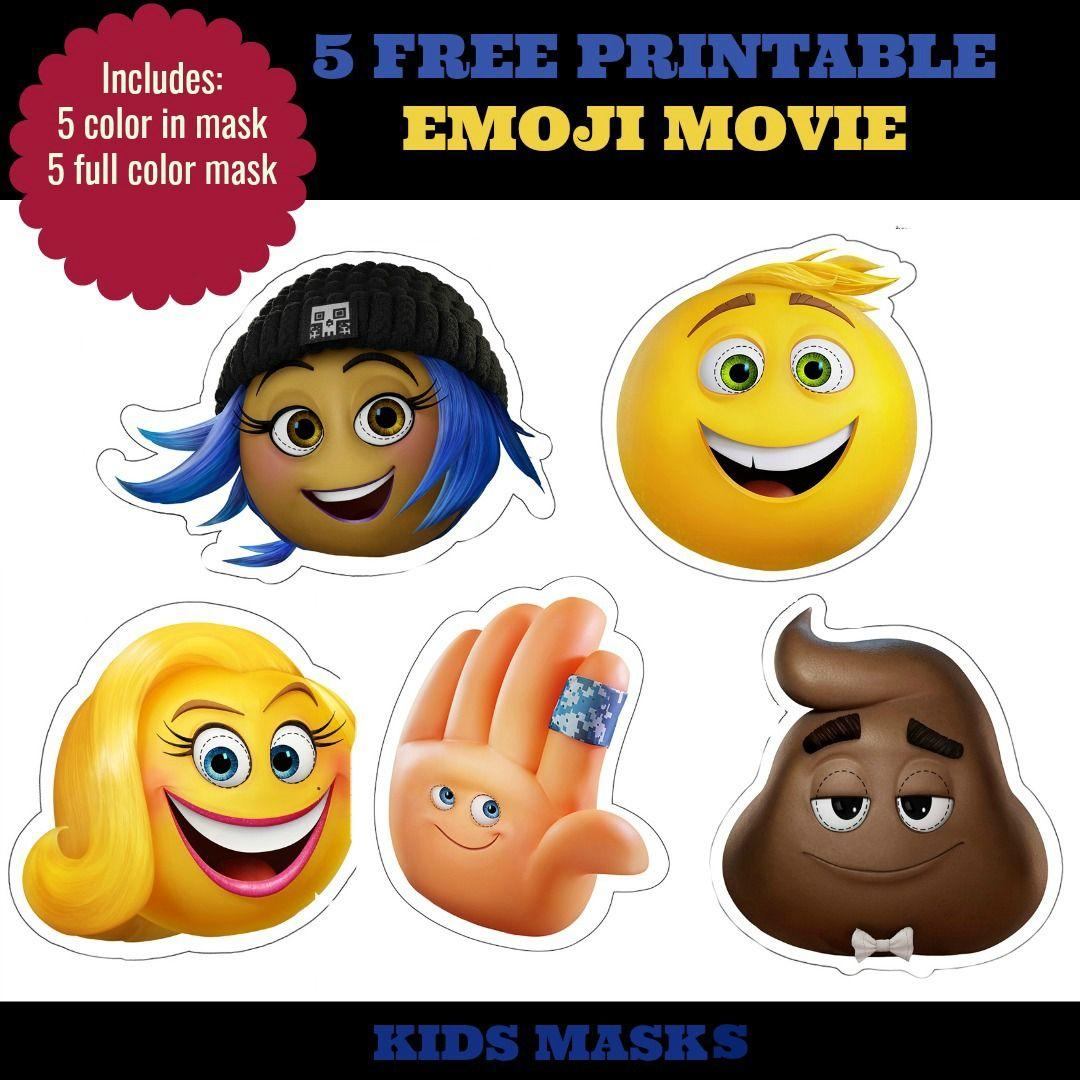 5 Free Printable Emoji Movie Mask For Kids With Images Emoji