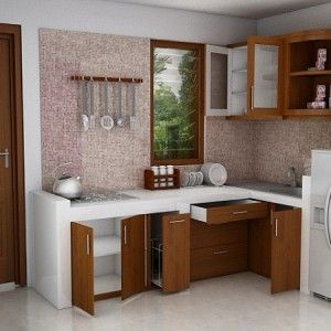 simple minimalist kitchen set decor for small space house