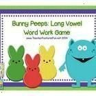 Long Vowel Game ee ea ay ai oa ow and Silent e 22 pages 144 word cards and 36 special cards Begin with the deck of word cardsBunny Peeps Long Vowel Game ee ea ay ai oa ow...
