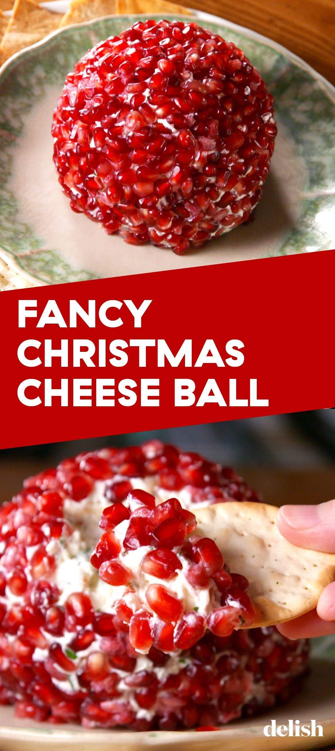 Fancy Christmas Cheese Ball Recipe Christmas Cheese Christmas Food Cheese Ball Recipes