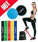 Gliding Discs Core Sliders and 5 Exercise Resistance Bands | Strength  #Fitness