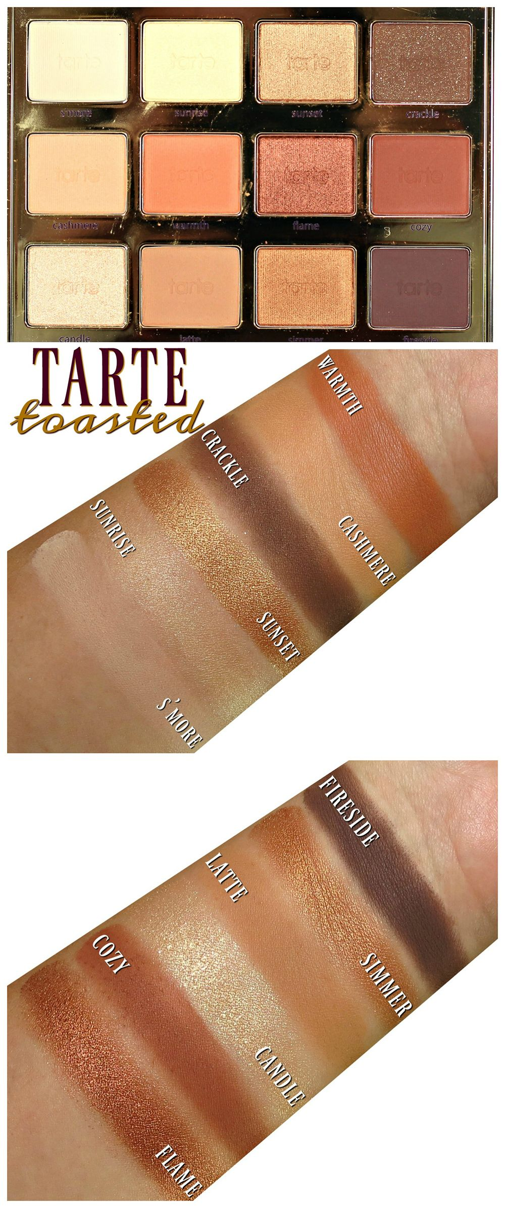 Tarte Tartelette Toasted Eyeshadow Palette Swatches, Review + EOTD ...