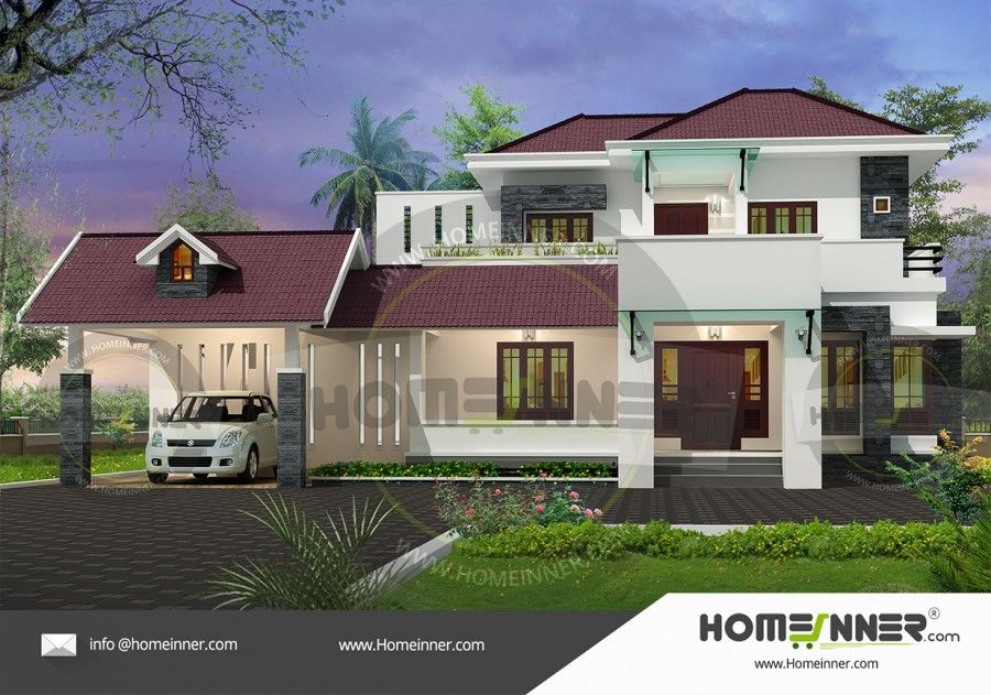 Indian home design 2767 sq ft 5 bedroom 5 bath 2 floor malvernweather Images