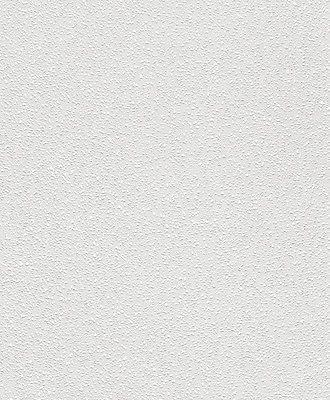 Wallton - 177412 Tapeten Vlies Überstreichbar Weiß Struktur (1,34€/m)