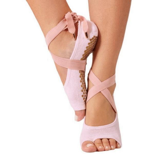 The Toeless Honey Grip Sock (Barre / Pilates) #balletfitness