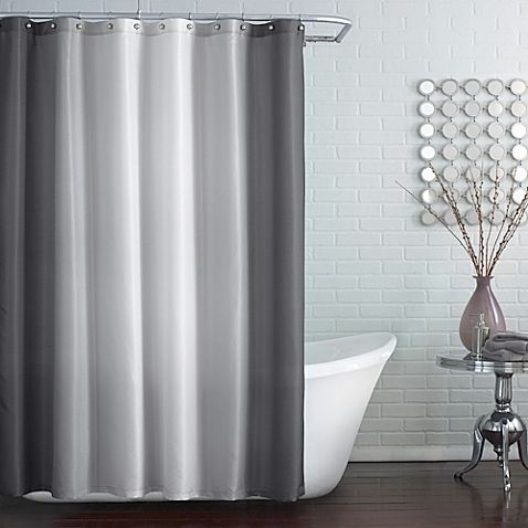 Blaire Extra Long 72 Inch X 96 Shower Curtain In Grey