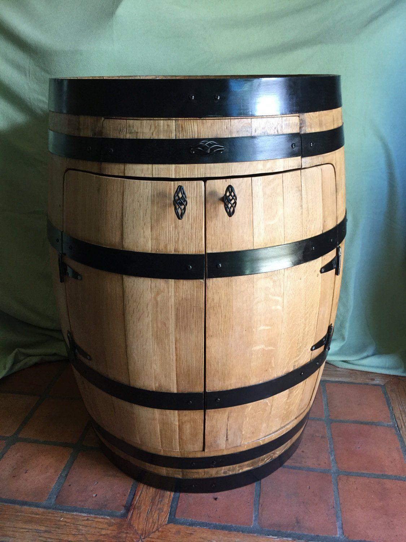 Demi Tonneau En Bois cabinet d'alcool full barrel, bistro wine barrel | tonneau