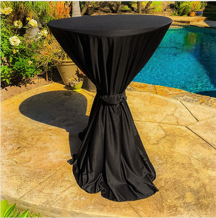 Our Bistro Table Cloths Are Perfect For That Pool Side Cocktail Party Table Cloth Bistro Table Folding Table