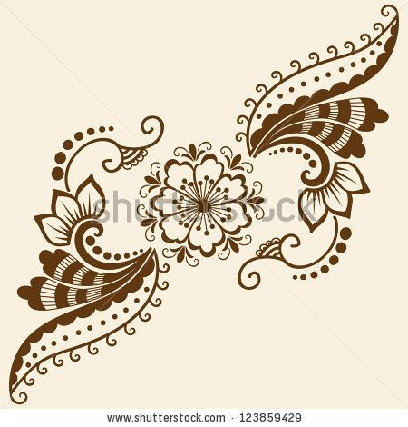 stock vector vector abstract floral elements in indian mehndi style abstract floral vector. Black Bedroom Furniture Sets. Home Design Ideas