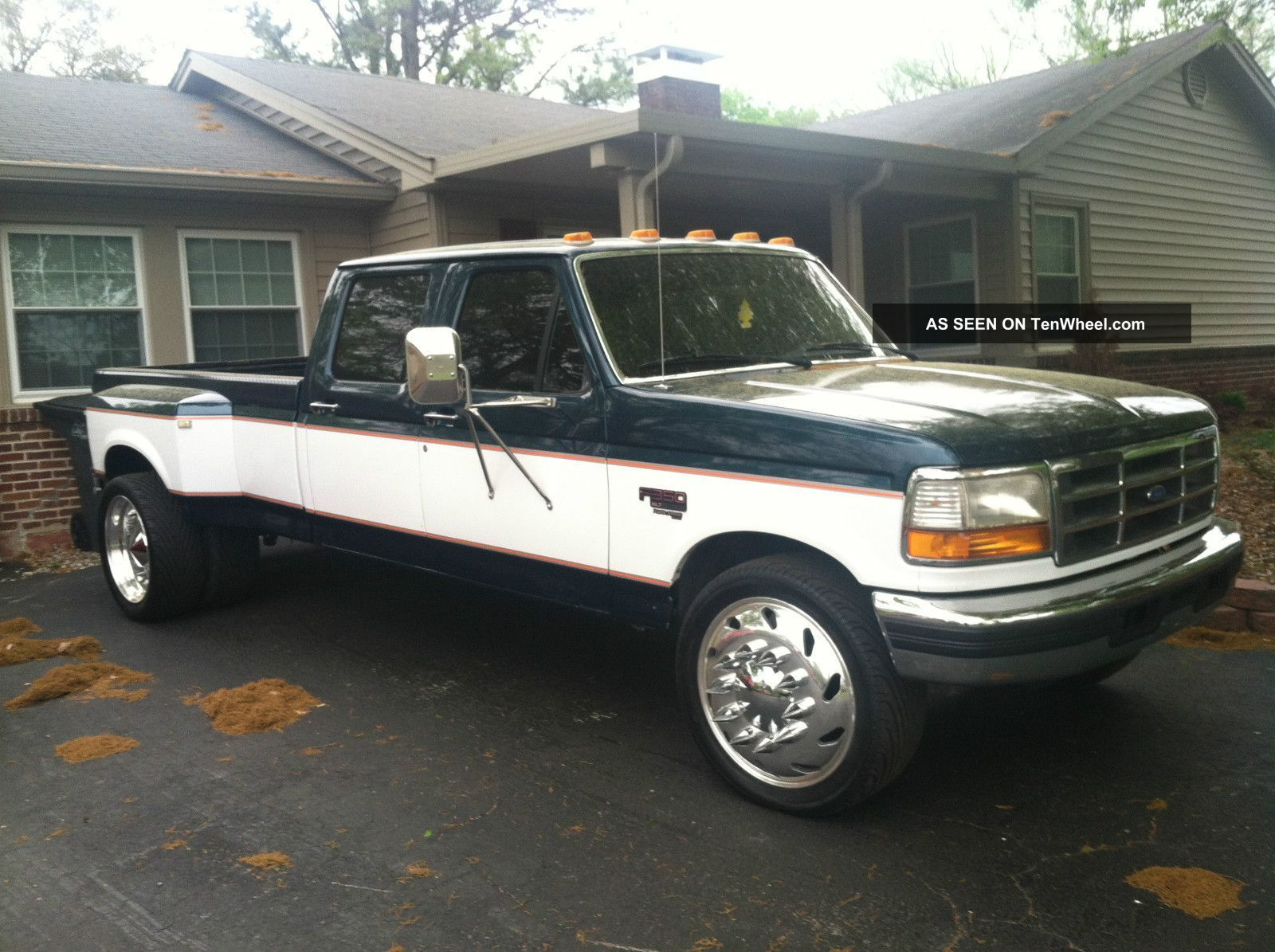 1997 Ford F350 Powerstroke Dually On Semi Wheels Ford F350 Diesel Trucks Ford 1997 Ford F350