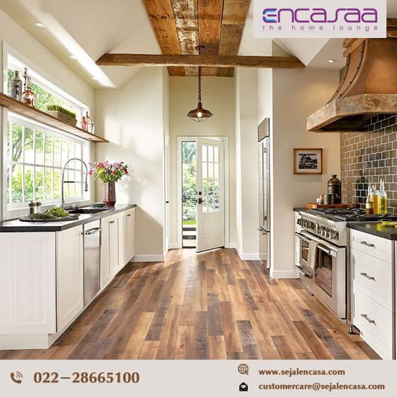 Visual Homes chestnut wooden flooring in a gorgeous hand-hewn visual. homes