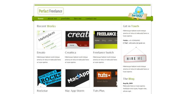 Perfact Freelacer Clean Elegant Html Template | Freelance web ...