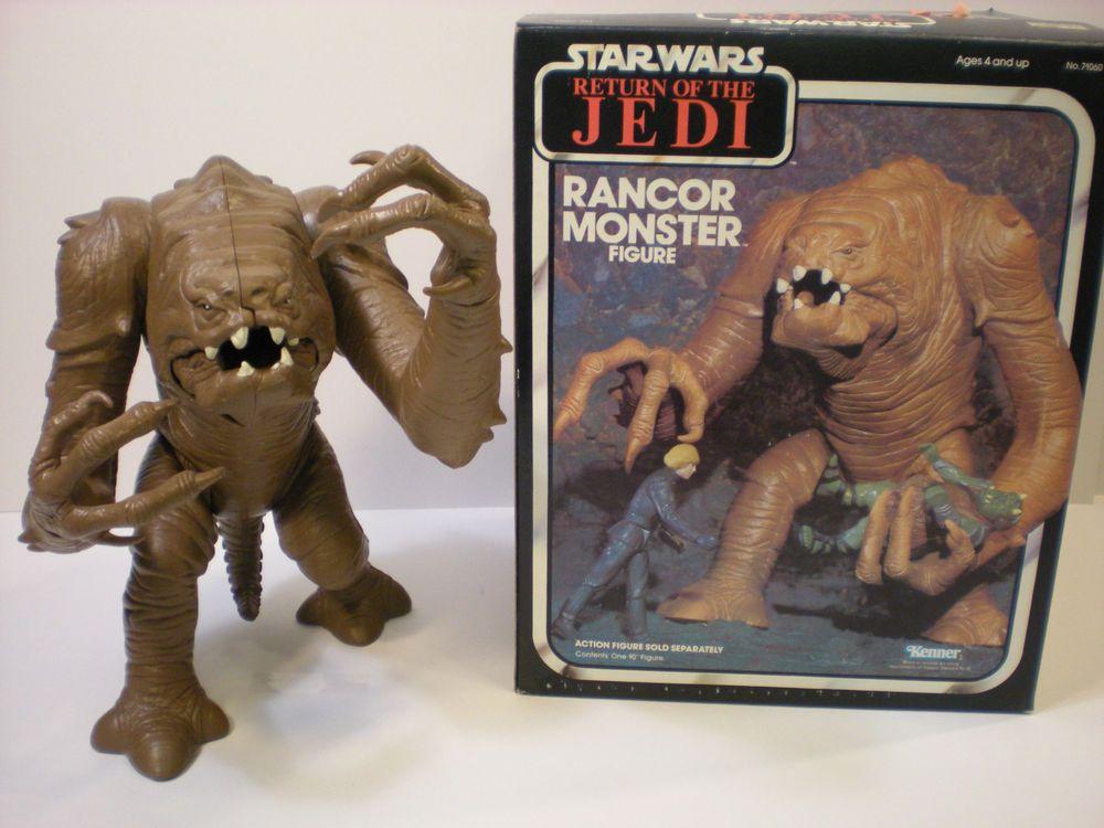 Kids Toys Action Figure: Vintage Star Wars Rancor Monster Figure In Box ROTJ 1983