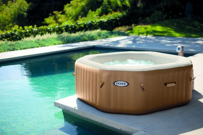 Spa Gonflable Intex Purespa Bulles 4 Personnes Octogonal Spa Gonflable Intex Spa Gonflable Jacuzzi