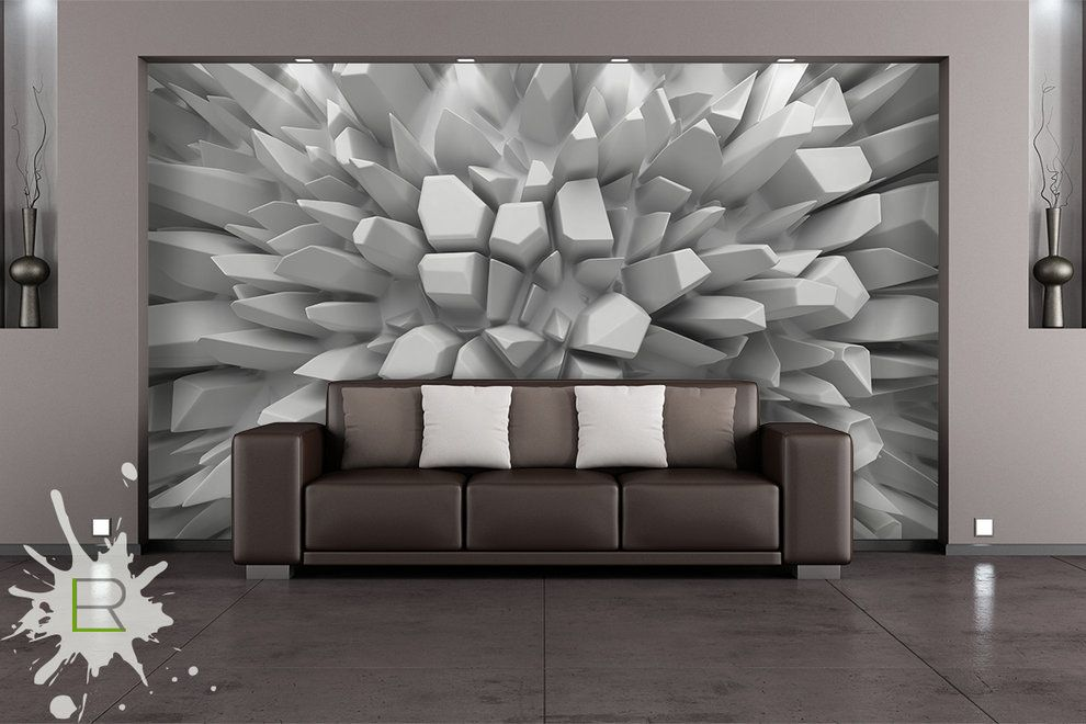 Wnętrza, Fototapety 3D - Abstrakcyjny kwiat - Fototapeta 3D od - interieur design dreidimensionaler skulptur