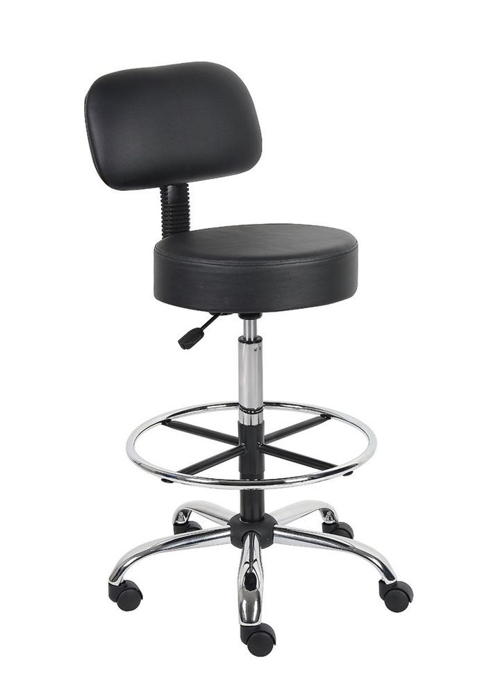 Medical Boss Chairs Bar Stool Adjule Lab Tall Office Furniture Salon Black Bossofficeproducts