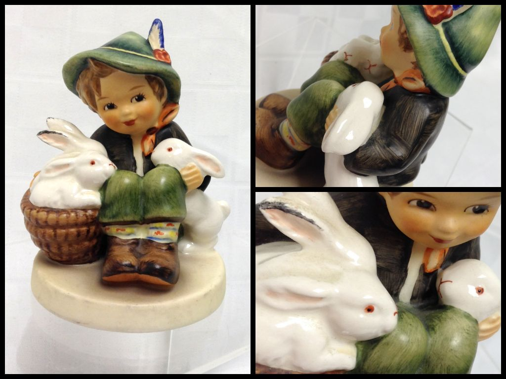 "4 Ladies & More Consignment Boutique - Authentic Hummel Figurine ""Boy with Rabbits"", $46 (https://www.facebook.com/pages/4-Ladies-More-Consignment-Boutique/179205538782156)"