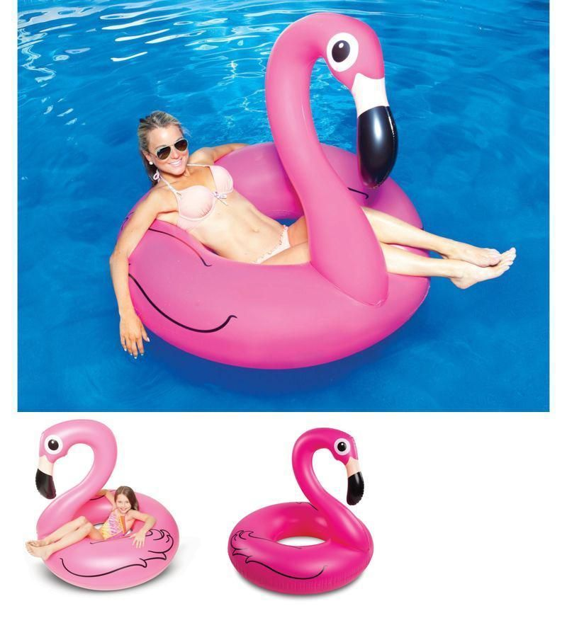 Pink Flamingo Pool Float Inflatable 4ft Wide Reelax Home Outdoor