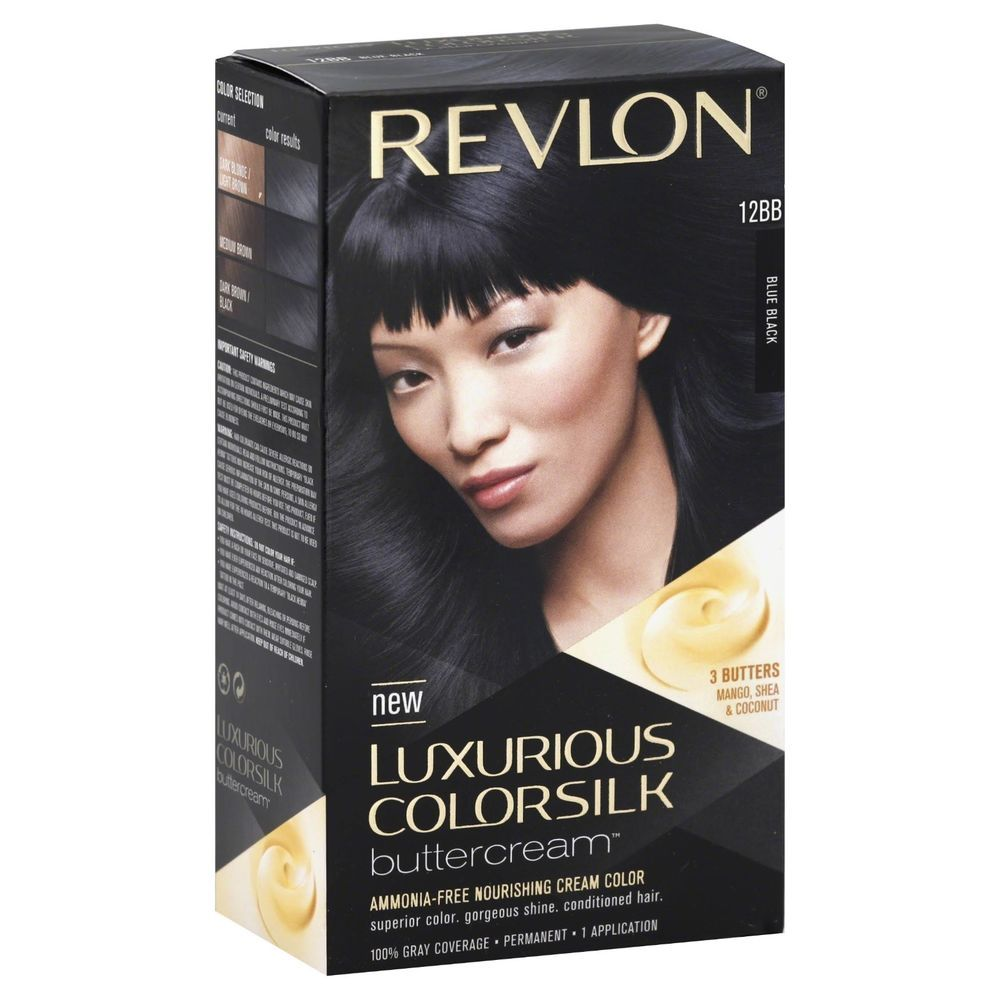 Revlon Luxurious Colorsilk Buttercream Hair Color Blue Black 12bb