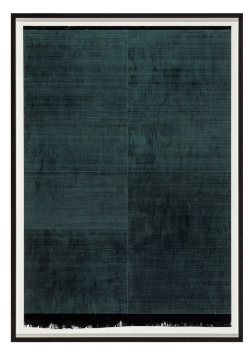 Nick Oberthaler- No Structured Narrative III (2010) - Wax and ink on paper