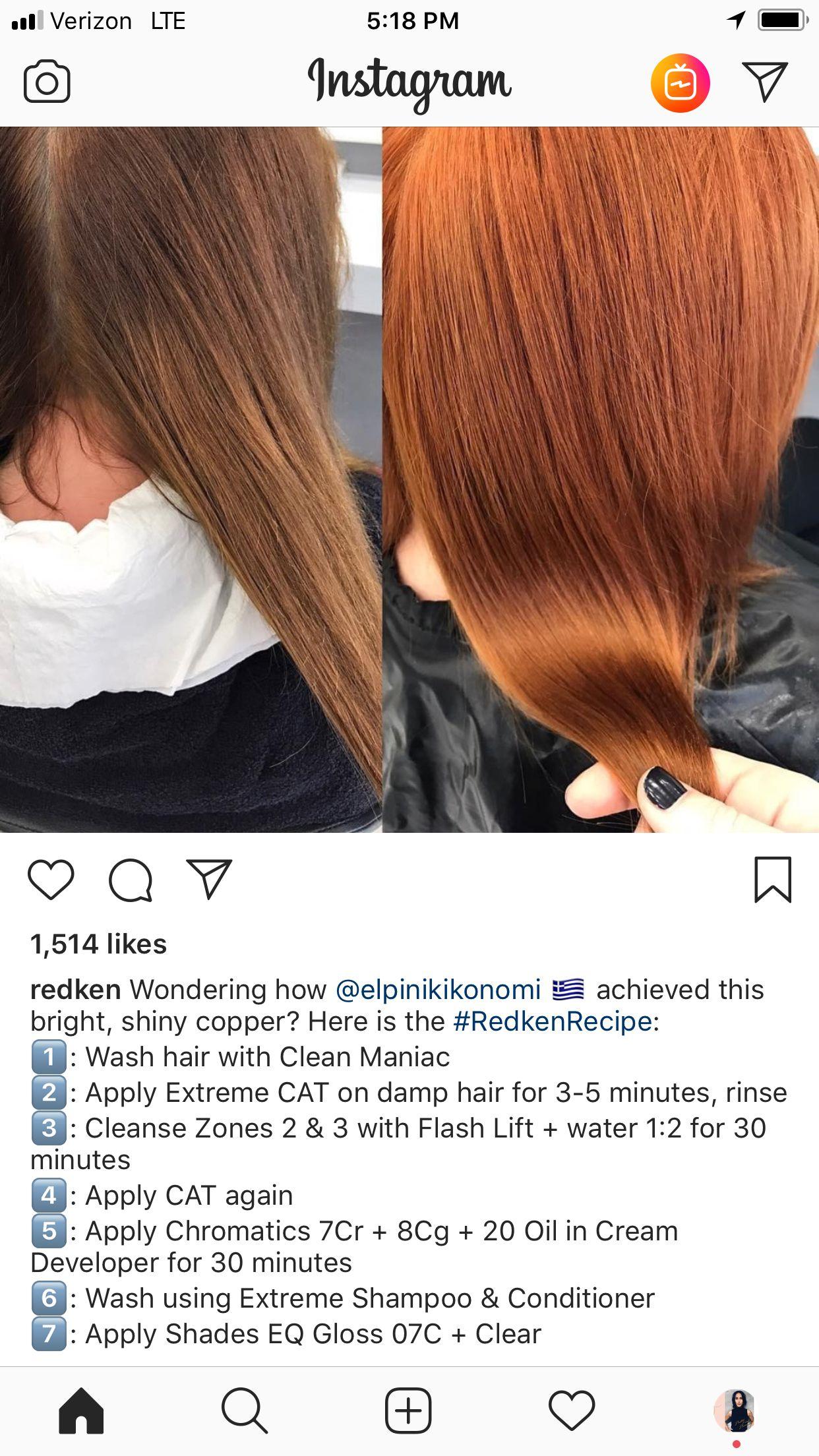 Redken Formula Hair Color Formulas Red Hair Formulas Hair Inspo Color