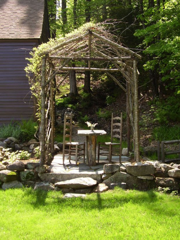 Arbors Made From Tree Branches