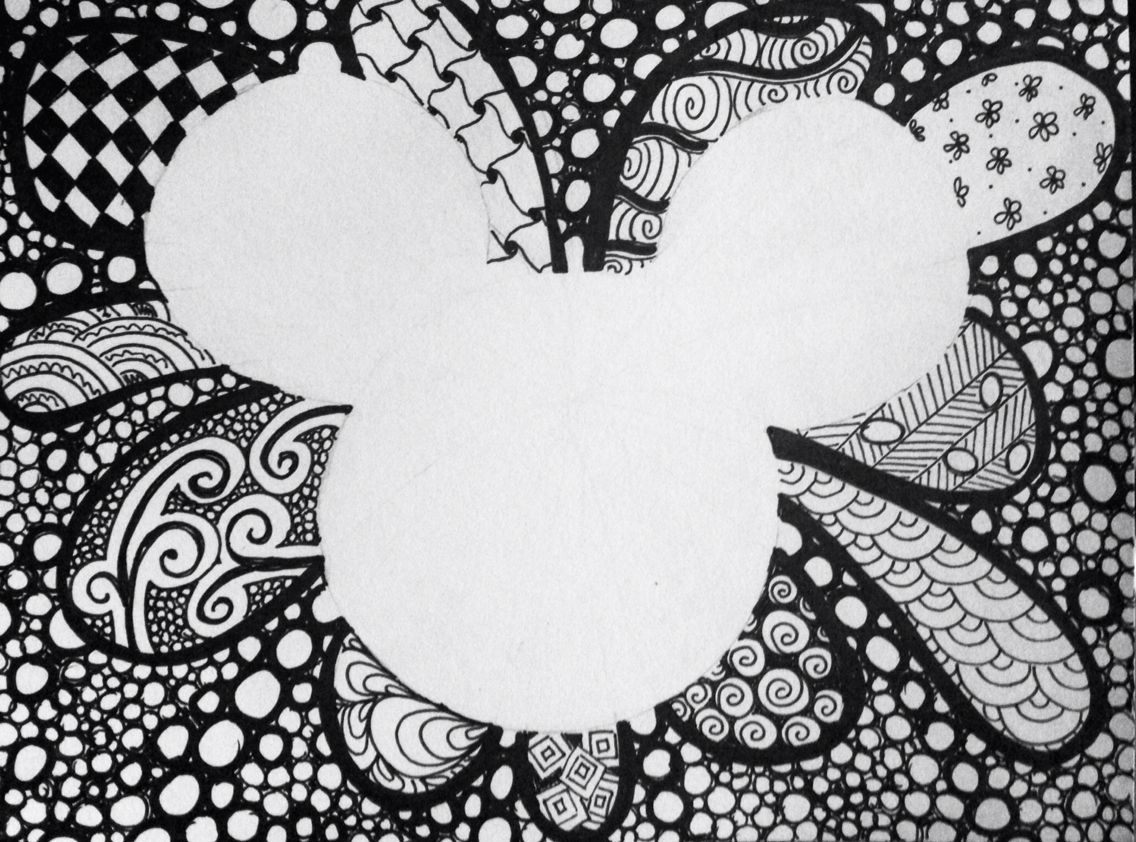 Mickey Zentangle By KT