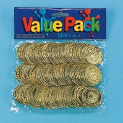 Amazon.com: Plastic Gold Coins (72 dozen) - Bulk: Toys & Games